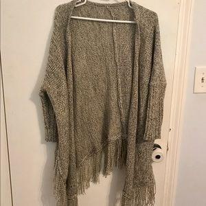 Sweaters - Fringe Cardigan